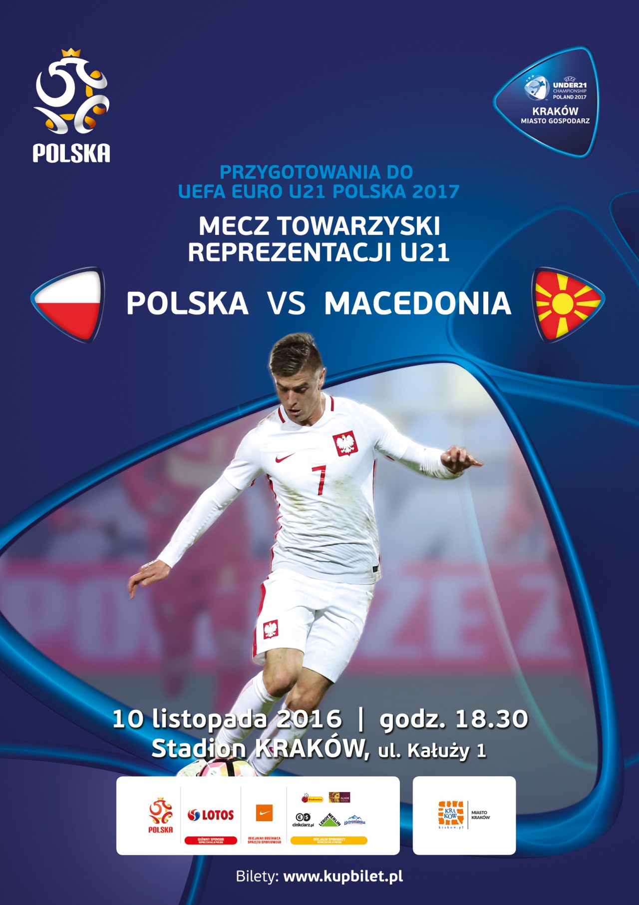 Polish poster for the game; photo: PZNP